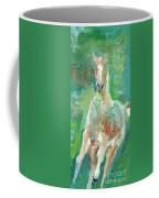 Foal  With Shades Of Green Coffee Mug