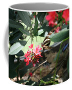 Focus In The Center - Black And White Butterfly Coffee Mug