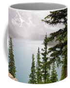 Fog Going Down At Lake Moraine Coffee Mug