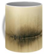 Fog Hovers Above The James River Coffee Mug