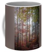 Fog In Autumn Forest Coffee Mug