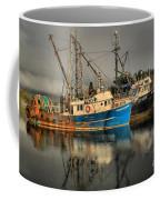 Fog Over Ucluelet Fishing Port Coffee Mug