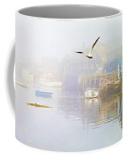 Fog Over West Dover - Digital Paint Coffee Mug