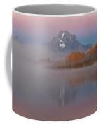 Foggy Alpen Glow At Oxbow Bend  Coffee Mug