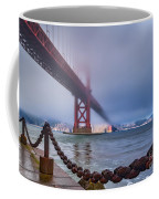 Foggy Day At The Golden Gate Bridge Coffee Mug