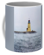 Foggy Day At The Lighthouse Coffee Mug