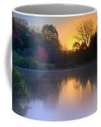 Foggy Fall Sunrise Coffee Mug