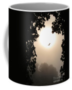 Foggy Heron Flight Coffee Mug