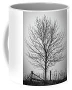 Foggy Lone Tree Hill Fine Art Coffee Mug