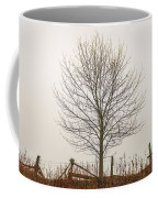 Foggy Lone Tree Hill Coffee Mug