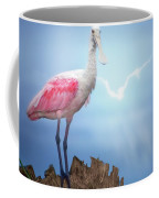 Foggy Morning Spoonbill Coffee Mug