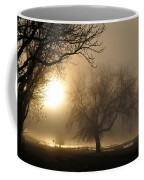 Foggy November Sunrise On The Bay Coffee Mug