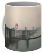 Foggy Three Gorges Dam Coffee Mug