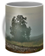 Foggy Tree In The Field Coffee Mug
