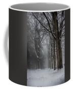 Foggy Vermont Winter Path Coffee Mug