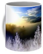 Foggy Winter Sunset Coffee Mug
