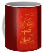 Folding Bycycle Patent Drawing 1c Coffee Mug