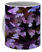 Foliage Abstract In Blue, Pink And Sienna Coffee Mug