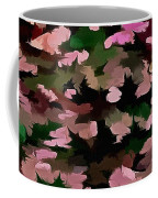 Foliage Abstract In Pink, Peach And Green Coffee Mug