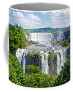 Foliage In And Around Waterfalls In Iguazu Falls National Park-brazil  Coffee Mug