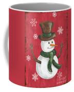 Folk Snowman Coffee Mug