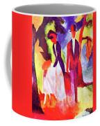Folks At The Blue Sea By August Macke Coffee Mug