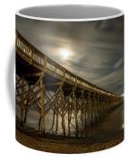Folly Beach Pier At Full Moon Coffee Mug