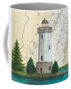 Fon Du Lac Lighthouse Wi Nautical Chart Map Map Coffee Mug
