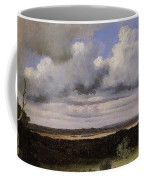 Fontainebleau Storm Over The Plains Jean-baptiste-camille Corot Coffee Mug