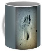 Foot Print In The Sand Coffee Mug