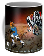 Football Derby Rams Against Leicester Foxes Coffee Mug