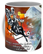 Football Derby Rams On Holidays By The Sea Coffee Mug