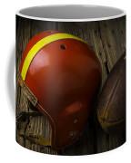 Football Helmet And Football Coffee Mug