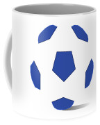 Football Image In Dazzling Blue And White Space Coffee Mug