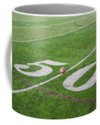 Football On The 50 Yard Line Coffee Mug