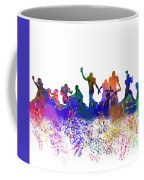 Football Players Skyline Coffee Mug