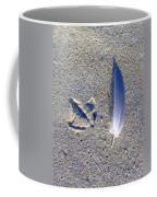 Footprint And Feather Coffee Mug