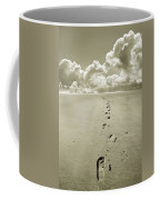 Footprints In Sand Coffee Mug
