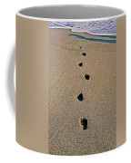 Footprints In The Sand ... Coffee Mug
