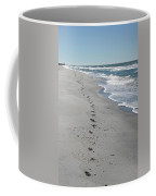 Footsprints In The Sand Coffee Mug