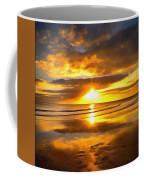 Footsteps  Beneath The Sunset I  Coffee Mug