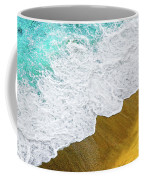 Footsteps In The Sand Hopelessly Facing The Rising Tide  Coffee Mug