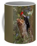 Foraging Pileated Woodpecker Coffee Mug