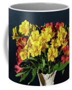 Foral Bouquet Of Red And Yellow Astomelia Coffee Mug