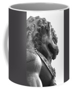 Forbidden City Lion - Black And White Coffee Mug