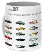 Ford Auto/edsel Ad, 1957 Coffee Mug