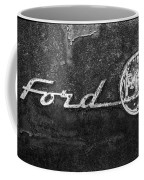 Ford F-100 Emblem On A Rusted Hood Coffee Mug