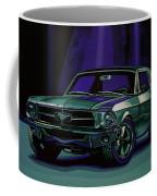 Ford Mustang 1967 Painting Coffee Mug