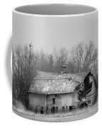 Forest Avenue Barn Bw Coffee Mug