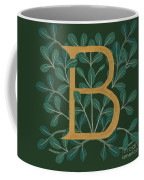 Forest Leaves Letter B Coffee Mug